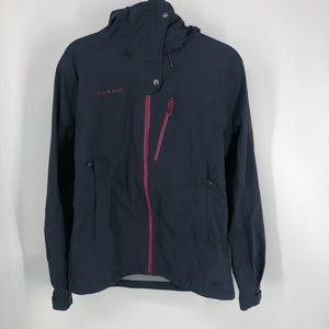 Mammut blue dry tech hard shell rain jacket S